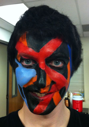 My face painted for AWAKEN, 2012
